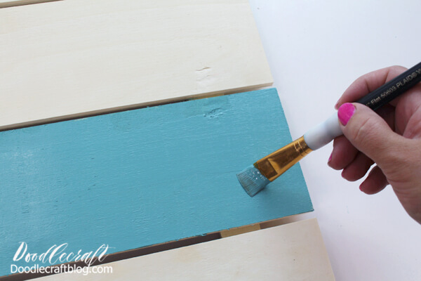 Step 1: Painting the Pallet Plaque Begin by painting the pallet plaque sign however you like.
