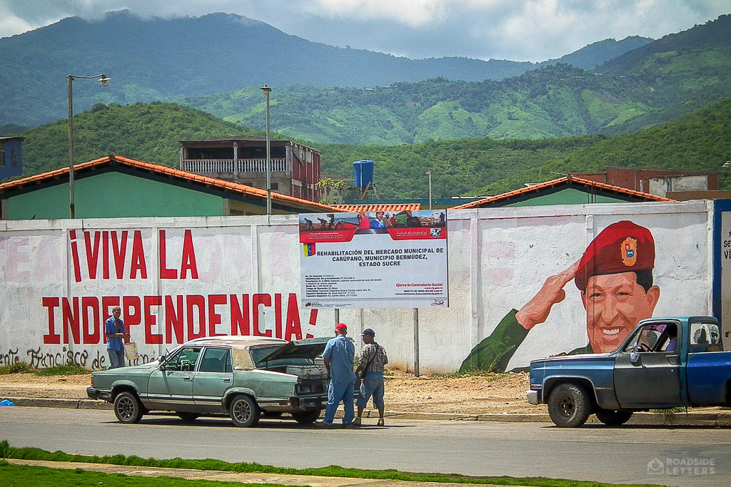 Mural with Hugo Chavez in Venezuela