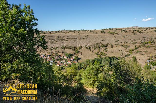 View towards Gradeshnica village, Mariovo region, Macedonia