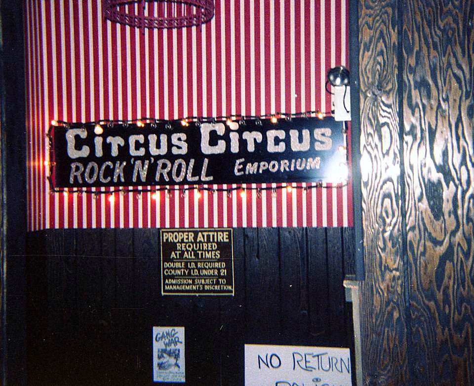Circus Circus rock club in Bergenfield, New Jersey