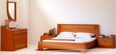 Juego de dormitorio en madera cedro
