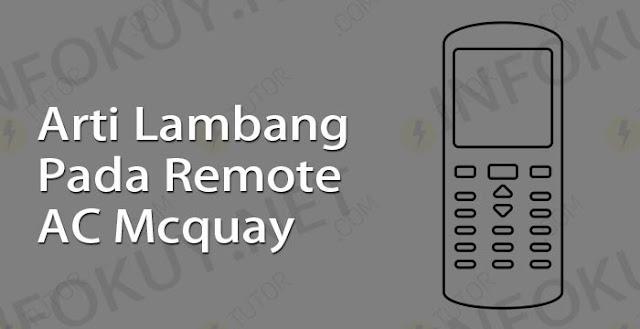 arti lambang pada remote ac mcquay