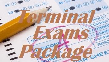 TERMINAL EXAMINATION PACKAGE FORM I, II, III, IV