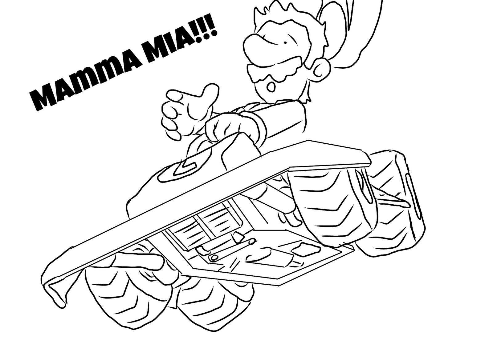 Free coloring pages of mario kart wii for Mario kart wii coloring pages