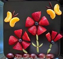 Strawberry Flowers Fruit Art
