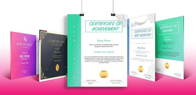 تنزيل برنامج Certificate Maker & Certificate Generator  برنامج صنع الشهادات الاحترافي لنظام الاندرويد