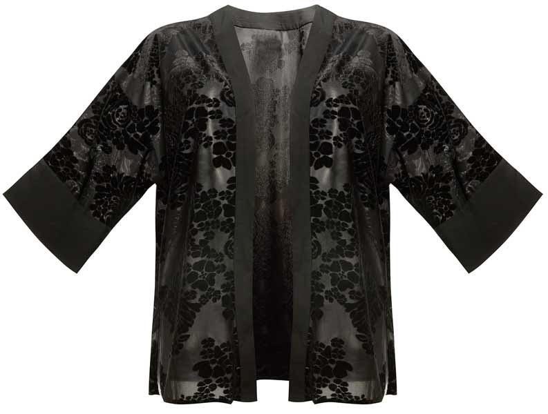 Kimono en negro para mujer de la colección de Primark