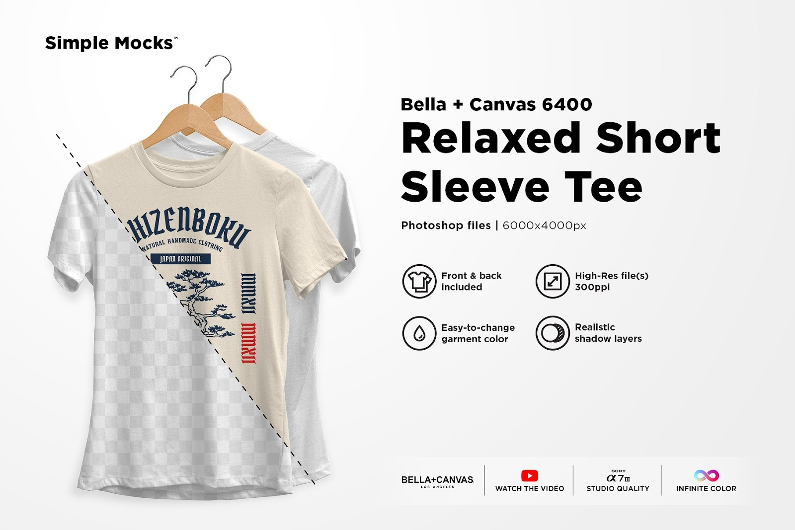 Women's Relaxed Tee Mockup