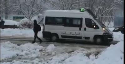 Maroc- Alerte météo- chutes de neige dangereuses ; les autorités de la ville d'Ifrane, appellent les touristes de quitter la ville- vidéo