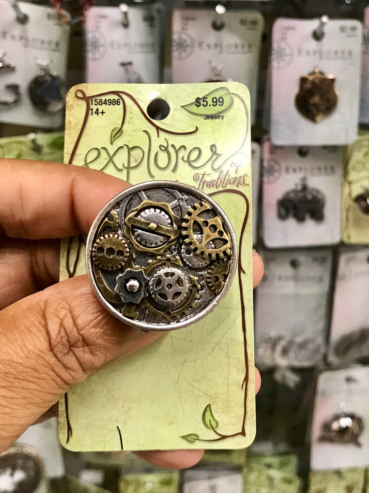 Explorer mix metal rings and jewelry sold at Hobby Lobby
