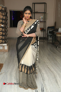 Telugu Actress Jayavani Jayavani Stills in Black Saree at Intlo Deyyam Nakem Bhayam Success Meet  0104.JPG