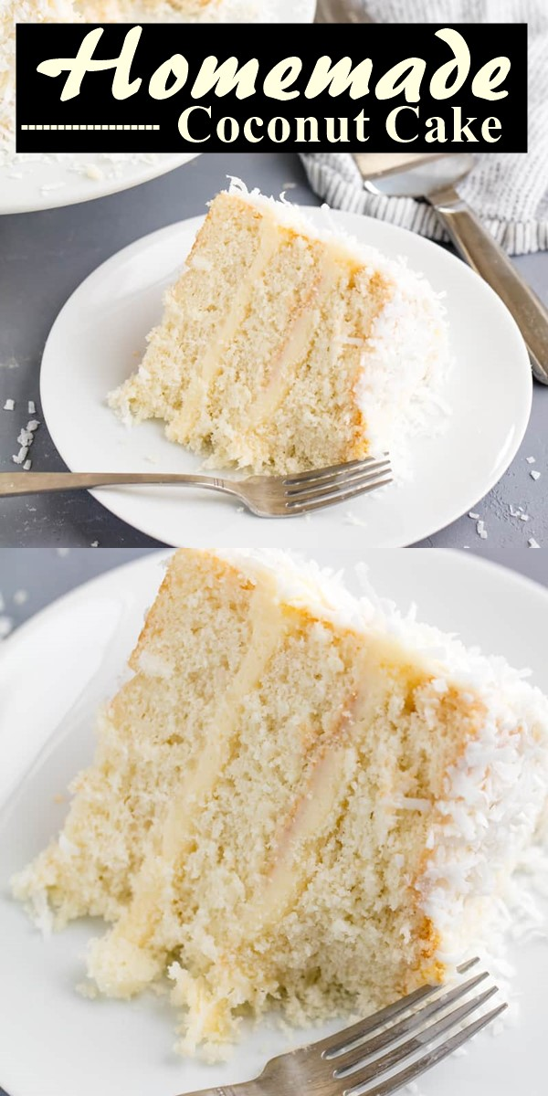 Homemade Coconut Cake #cakerecipes