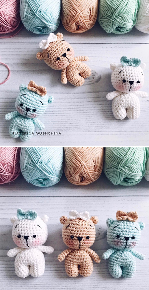 Amigurumi Tiny Bear - Free Pattern