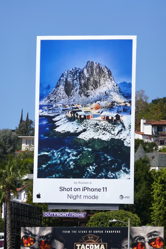 Shot on iPhone 11 Night Mode billboard