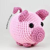 Patrón amigurumi cerdo patrón animal cerdito tutorial | Etsy | 200x200