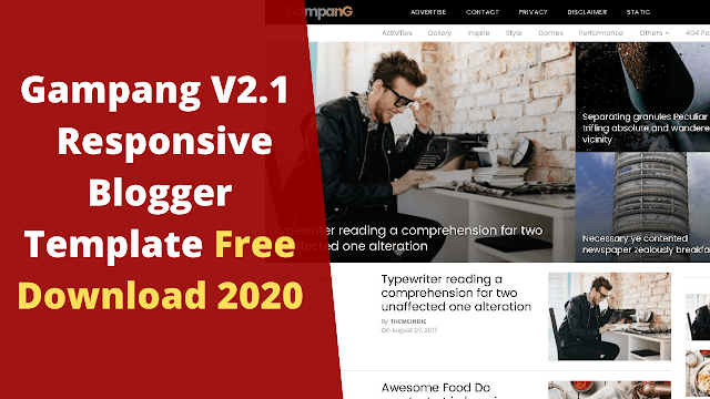 Gampang V2.1Responsive Blogger Template Free