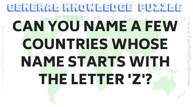 Can you name a few countries whose name starts with the letter 'Z'?