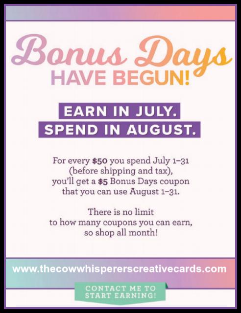 Bonus Days, Stampin Up, Save, Sale