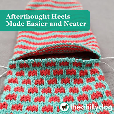 Knitting Video Tutorial: Afterthought heels for socks made easier and neater