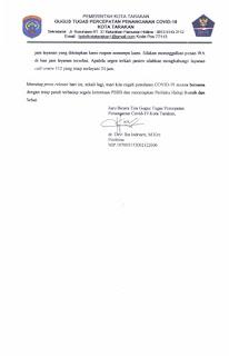 Press Release COVID-19 Tarakan 20 Mei 2020 - Tarakan Info