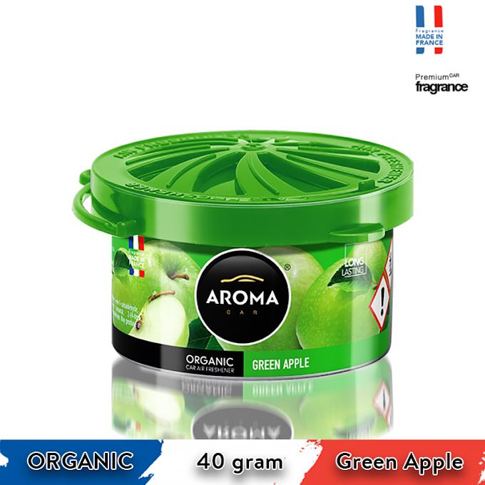 Sáp thơm ô tô Aroma Car Organic 40g - Green Apple