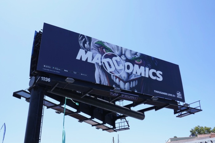 Mad Comics DC Universe Joker billboard