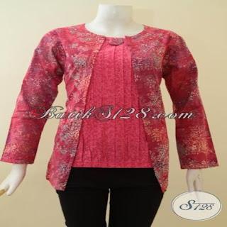 model baju batik kombinasi embos