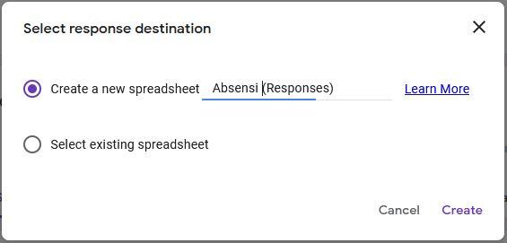 menyimpan dan memberikan nama file spreadsheet