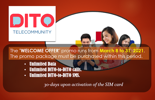 DITO Telecom Welcome Offer 2021 Promo