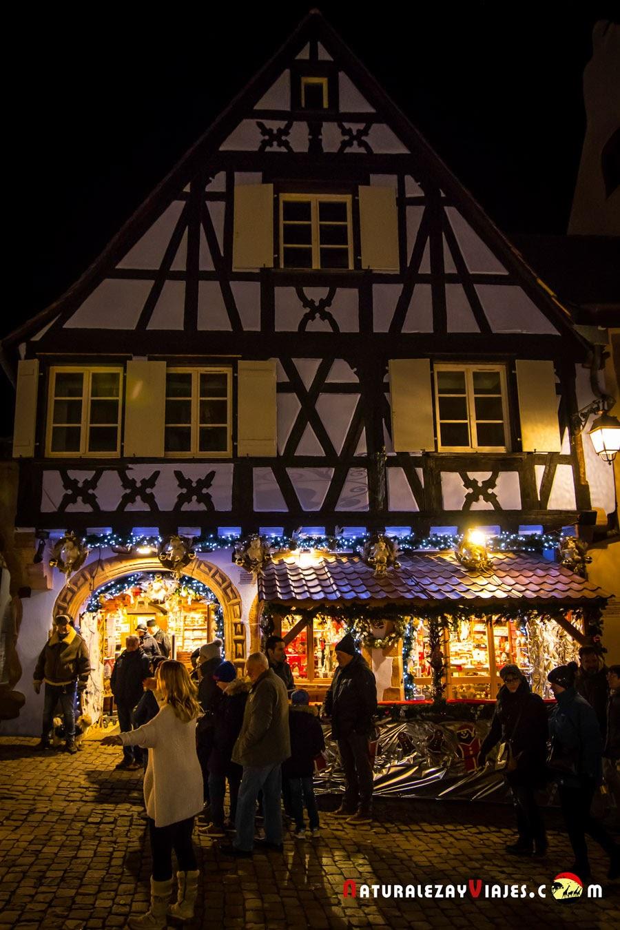 Mercado de Navidad de Riquevihr, Alsacia