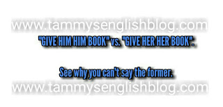 "The reason why you can't say ""give him him book"" but can say ""give her her book"""