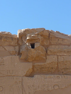 Gargoyle in the temple at Karnak