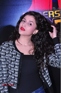 Actress Mannara Chopra Stills in Jeans at Sparx 2017 Curtain Raiser Event  0068.JPG