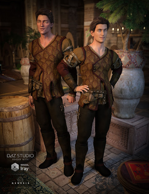 The Bard Outfit for Genesis 3 Male