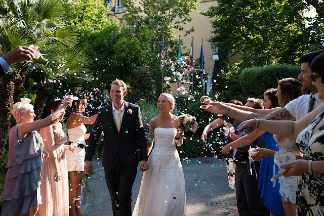 Wedding confetti in Sorrento