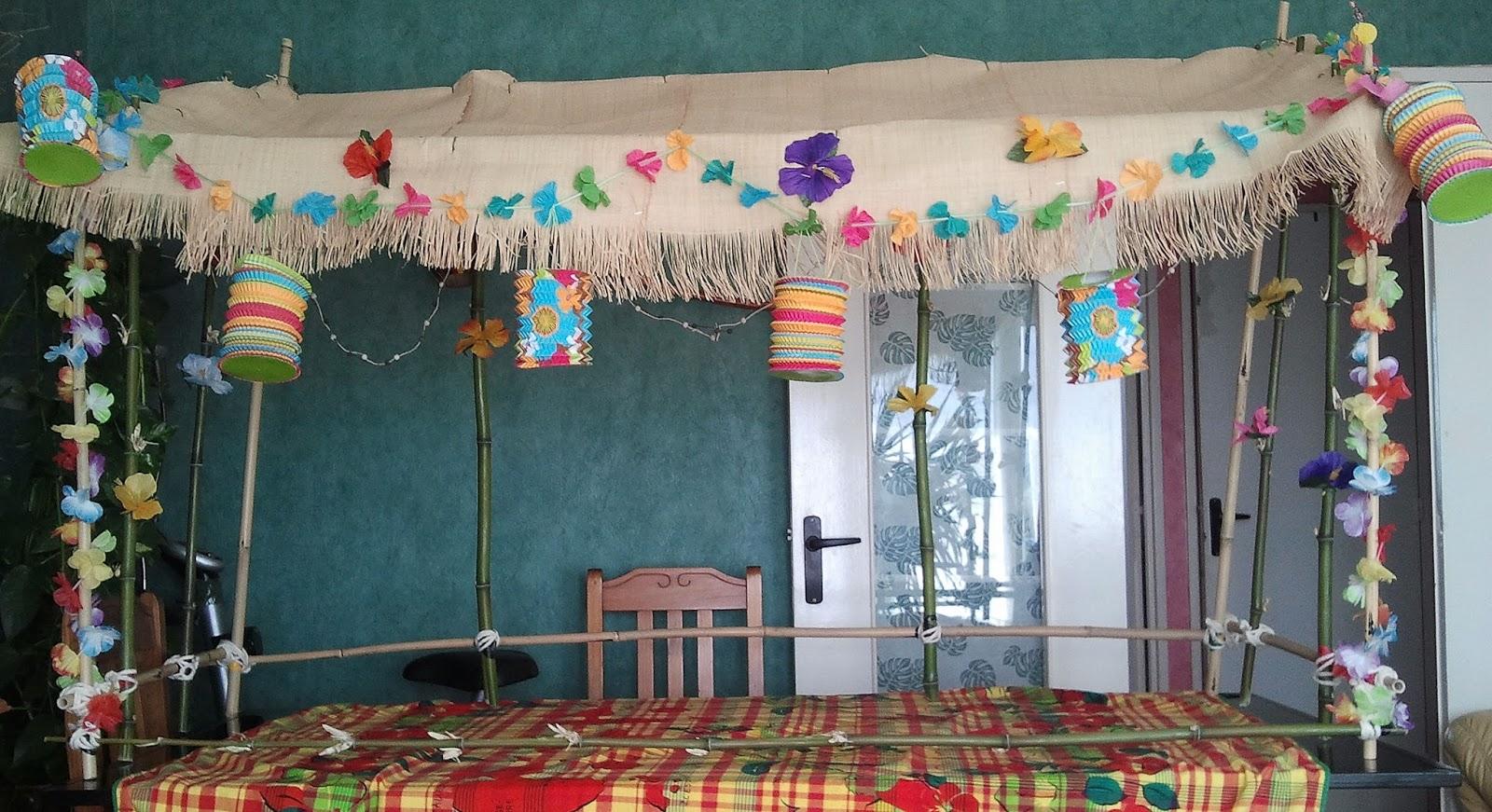 Pomme cannelle un f te d 39 anniversaire exotique - Idees deco ete pour un decor frais et joyeux ...