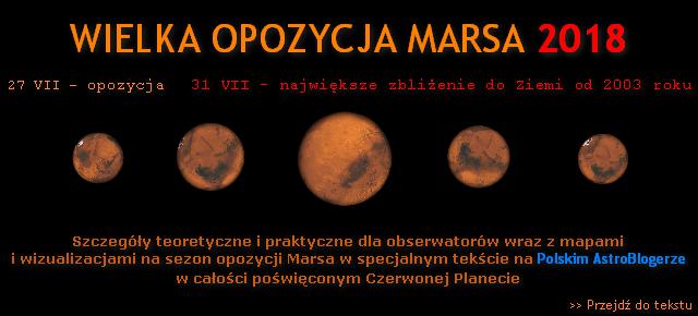 NOWY TEKST - Wielka opozycja Marsa 2018 - porady teoretyczno-praktyczne i info-grafiki na okres najlepszej widoczności Czerwonej Planety od 2003 roku