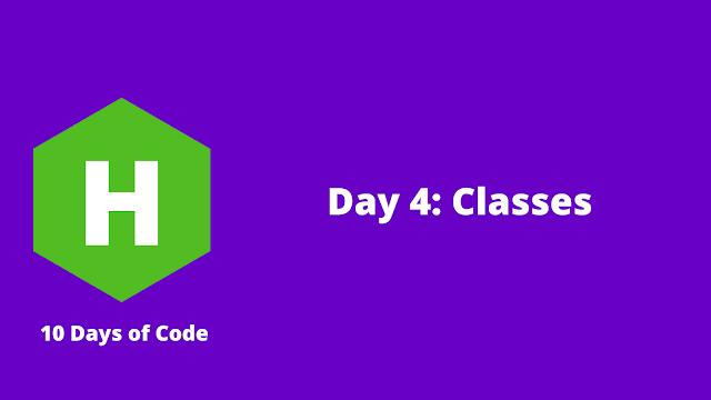 HackerRank Day 4: Classes problem solution