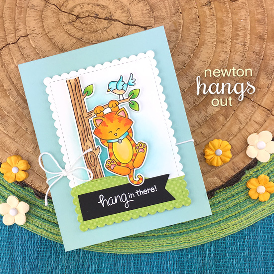 Hang in there Card by Jennifer Jackson | Newton Hangs Out Stamp Set by Newton's Nook Designs #newtonsnook #handmade