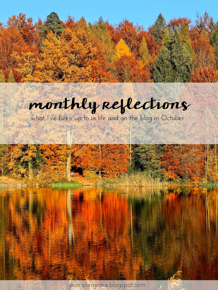 Wrapping up the month and sharing what I've been up to in life and on the blog. What is your favorite moment of October? #currently