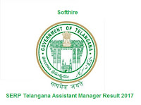 SERP Telangana Assistant Manager Result
