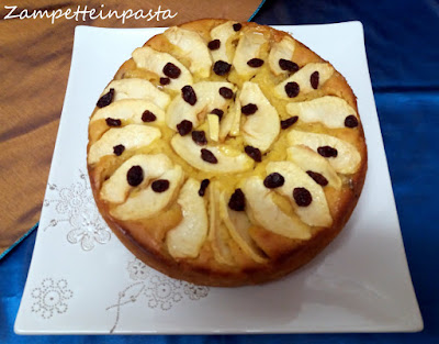 Torta con mele, ricotta e uvetta - Dolce con le mele