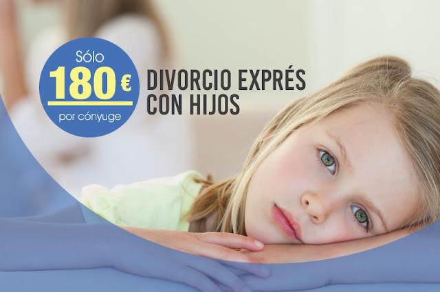 Divorcio exprés con hijos desde 180 euros