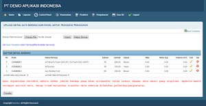 Aplikasi inventaris gratis berbasis web php mysql responsive
