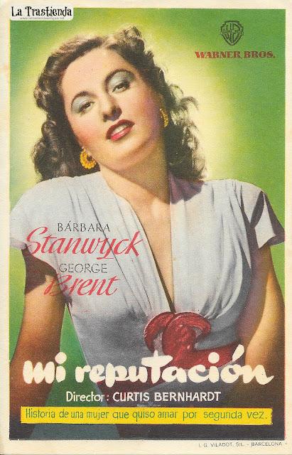Mi Reputación - Programa de Cine - Barbara Stanwyck - George Brent