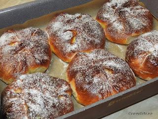 Placinte cu branza reteta traditionala de casa din Moldova Bucovina si Dobrogea cu brânză dulce coapte la cuptor retete culinare de patiserie poale-n brau branzoaice deserturi dulciuri gustari branzoaica,