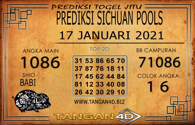 PREDIKSI TOGEL SICHUAN TANGAN4D 17 JANUARI 2021
