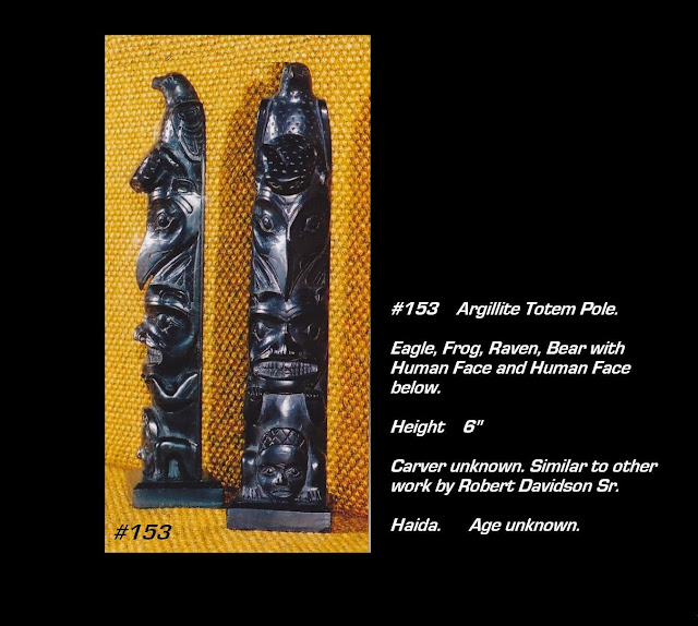 Argillite carving totem pole