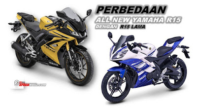 Perbedaan Yamaha YZF-R15 Terbaru