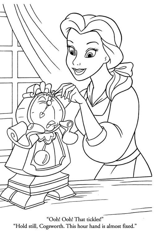 belle disney princess coloring pages | coloriage princesse disney | Liberate